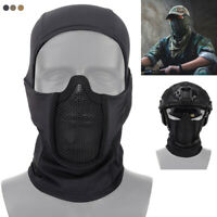 Balaclava Mesh Mask Ninja Style Vollgesichtsmaske Airsoft Nacken Kopfbedeckung