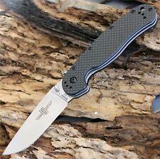 """Ontario RAT 1 knife 3.5"""" D2 Blade Steel, Black CF Handle -  8867CF"""