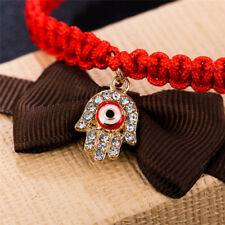 Handmade Rope Cuff Bracelets Crystal Pendant Bangle Threads Women's Jewelry ESCA