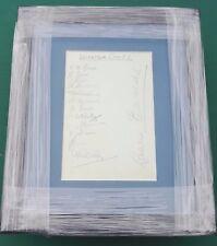 """Leicester City firmado 1934-35 Página del álbum de montado en marco de la pantalla de 11"""" X 9"""""""