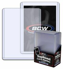 (Pack of 10) BCW Super Thick 138pt /3.5mm Topload Card Holders Patches Relics