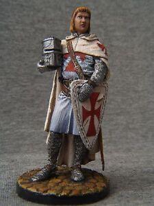 Knight Templar. Elite tin soldiers 54 mm Shcherbakov-HQModels St. Petersburg