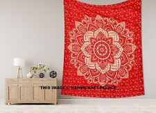 Red Gold ombre mandala tapestry hippie wall hanging king size bedspread bohemian