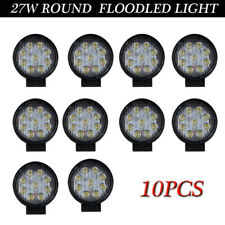 10X 27W 4Inch FLOOD Round LED Work Light Offroad Fog Driving DRL SUV ATV Truck