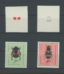 DDR PH 1415/1416 KÄFER 1968 2 PHASENDRUCKE INSECTS BEETLE PROOFS IMPERF p284