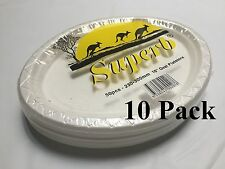"""500pcs Party Plastic Disposable White 10"""" Oval Plates 230 x 300mm 100% Brand New"""