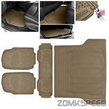 High Quality Heavy Duty Beige Floor Mats + Trunk 3D Print For Passenger Vehicles