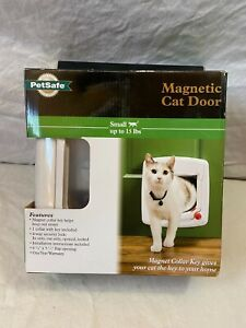 PetSafe Magnetic Cat Door – magnet key attaches to collar, keeps house secure!