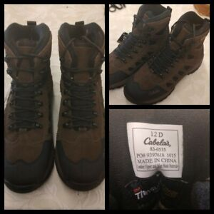 Cabela's Hiking Boots Men's Size 12 Brown Waterproof Inv#Z7078