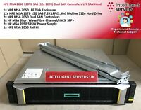 HPE MSA 2050 120TB SAS (12x 10TB) Dual SAN Controllers LFF SAN Head - Q1J00A