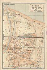 Carta geografica antica RIMINI Pianta della città TCI 1916 Old antique map