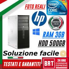 PC DESKTOP COMPUTER FISSO HP COMPAQ DC7800 CPU CORE DUO 3GB RAM HDD 500GB_OTTIMO