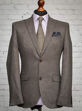 NEXT Tweed Wool Blend Grey Single Breasted 38R Blazer Suit Jacket