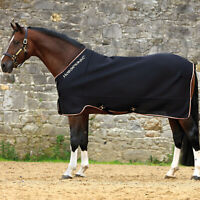 Rambo Airmax Disc Closure Unisex Horse Rug Cooler - Black Tan Orange All Sizes