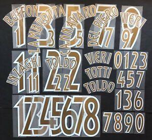 SET-NOMI-numeri ITALIA HOME 2002-2003 OFFICIAL NAMESET official rep/pl size PUMA