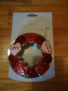 NEW Yankee Candle Candy Hearts Illuma-Lid Candle Topper Love Wedding