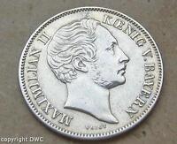 Coin Münze 1/2 Gulden Bayern 1851 Maximilian II in aus Silber Nr. 10822