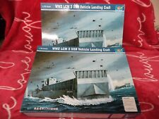 WW2 LCM USN Vehicle Landing Craft TRUMPETER 1:72 scale Model Kit Open box