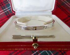 AUTHENTIC CARTIER 18K WHITE GOLD LOVE BRACELET BANGLE ORIGINAL BOX + SCREWDRIVER