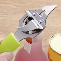 Kitchen Stainless Steel Bottle Beer Opener Multi-functional Bottle Jar Opener  Q