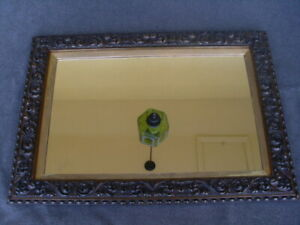 Gorgeous Antique Wood & Plaster Mirror in Frame .