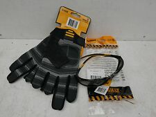 DEWALT 3 FINGER FRAMER GLOVES DPG24L + ROUTER SMOKE SAFETY GLASSES DPG96 2D