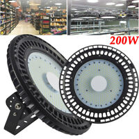 200W UFO LED Hallenleuchte Highbay Industrielampe Hallenbeleuchtung Fluter 6000K