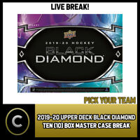 2019-20 UPPER DECK BLACK DIAMOND 10 BOX MASTER CASE BREAK #H591 - PICK YOUR TEAM