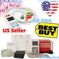 CONTEC FDA 12-Channel 24hour Holter ECG Recorder Sync Software Analyzer TLC5000
