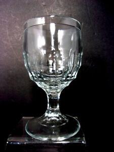 VTG Anchor Hocking Clear Pressed Glass Stemmed Wine Glass Wine Goblet
