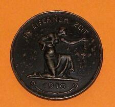 Wwi 1916 Berlin Germany Iron War Fund Gold Exchange Eiserner Zeit Coin Medal Old