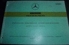 Mercedes Motoren M180 952/952 Unimog Ersatzteilliste