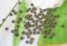 700PCS  Antiqued bronze daisy spacer beads 5mm W304