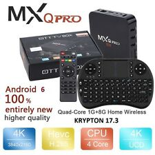 Pro S905X Smart TV BOX Android 6 Marshmallow Quad Core 8GB Box Keyboard 4K USA