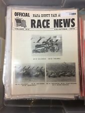 ~RACE NEWS August 1978 Official Napa County Vol. 6 Calistoga Magazine (CC4199)