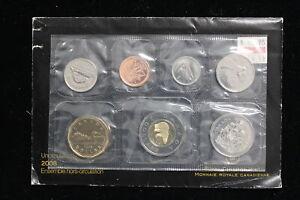2008 Canada. 7 Coin Uncirculated RCM Set. Set, Card & Envelope. (#16)