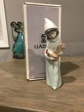 Lladro Pastorcita Gallo Belen Shepherdess With Rooster