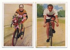 Lot of 2 1928 Josetti CYCLING CARDS Piet Moeskops Welt In Bildern Bicycle Racing