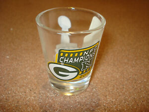 2010 GREENBAY PACKERS  NFL SUPERBOWL SHOT GLASS MINT NEW OLD STORE STOCK
