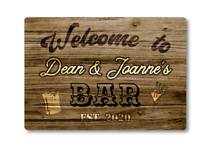 Personalised Bar Sign METAL Plaque Western Style. Home Pub Shed Garage Man Cave