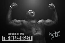 """Derrick Lewis """"The Black Beast"""" Poster print photo - Pre signed - 12 x 8 inches"""