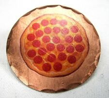 Pepperoni Pizza Forged Copper Golf Ball Marker by Sunfish