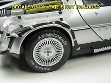 1/15 Custom Waterslide Decals for Diamond Select Back to the Future Delorean