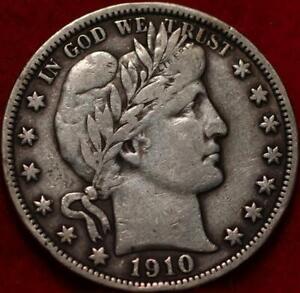 1910 Philadelphia Mint Silver Barber Half Dollar