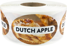 Dutch Apple Grocery Market Food Stickers, 1.25 x 2 Inches, 500 Labels on a Roll