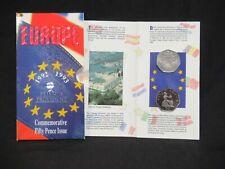 More details for 1992-1993 european community dual-date 50p - royal mint 2-coin folder