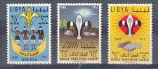 LIBYA LIBIA LIBYEN 1962 SERIE Scout 3 V New Nuovi MNH** DENTELLATA  SG 278-80