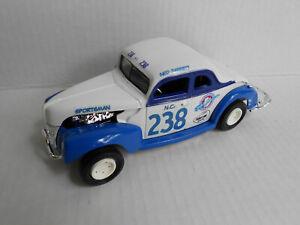 NED JARRETT #238  CUSTOM NASCAR 1940 FORD COUPE  / FISH CARBS  / DIECAST 1/25