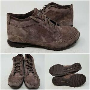 Skechers Lineage Velvet Lace Up Bikers Chukka Boots Shoes Women's Size 9