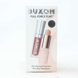 Buxom Full Force Flirt Mini Plump & Pout Duo  / New With Box